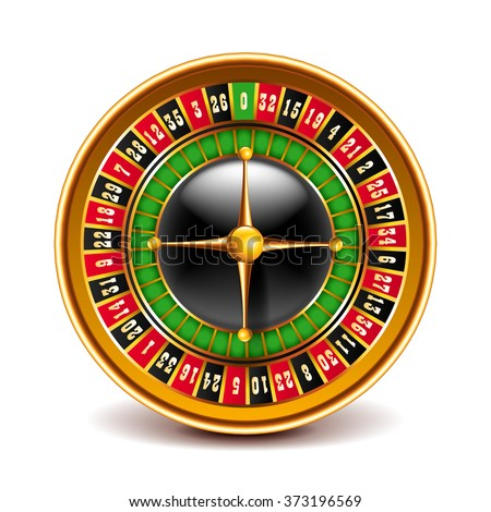Roulette top view isolated on white photo-realistic vector illustration - stock vector