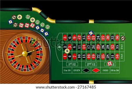 Roulette. Vector. - stock vector