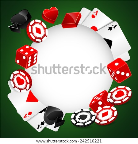 Roulette Vector Casino Background - stock vector