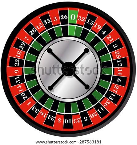 Roulette wheel - stock vector