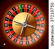 Roulette wheel. Vector. - stock photo