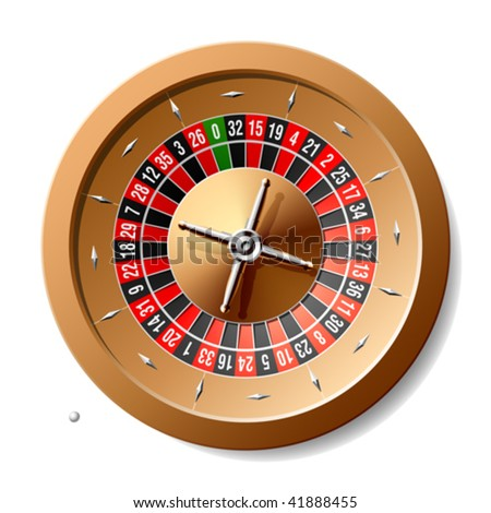 Roulette wheel. Vector illustration.