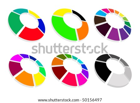round abstract symbol set