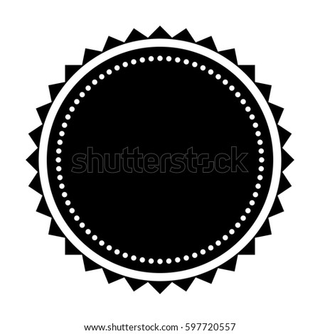 round badge icon silhouette stock vector royalty free 597720557