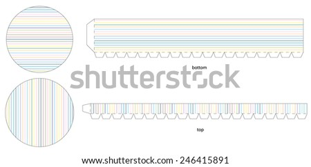 Round box template stripes stock vector 246415891 shutterstock round box template with stripes pronofoot35fo Images