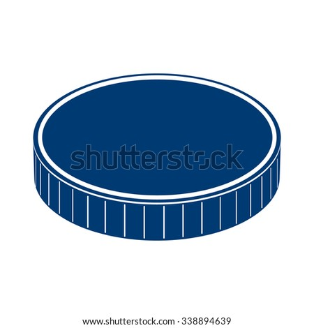 Round coin icon. Vector illustration. - stock vector
