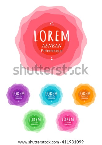 Round colorful shapes. Abstract colorful shapes. Abstract colorful banners. Colorful banners icons. Vector banners icons. Vector banners set. Banner icons art. Abstract banners set. - stock vector