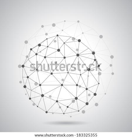 Round composition of the molecular lattice - stock vector