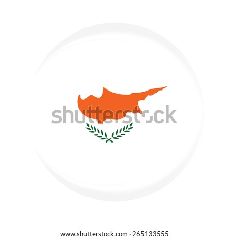Round cyprus flag vector icon isolated, cyprus flag button - stock vector