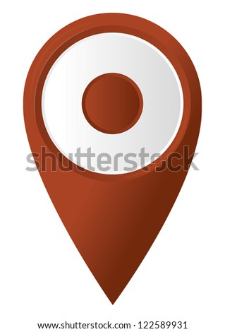 round 3D map pointer. vector illustration - stock vector