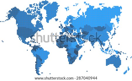 Round edge square shape world map stock vector 287040944 shutterstock round edge square shape world map vector illustration gumiabroncs Choice Image