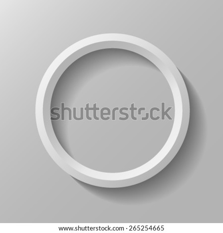 Round frame - stock vector
