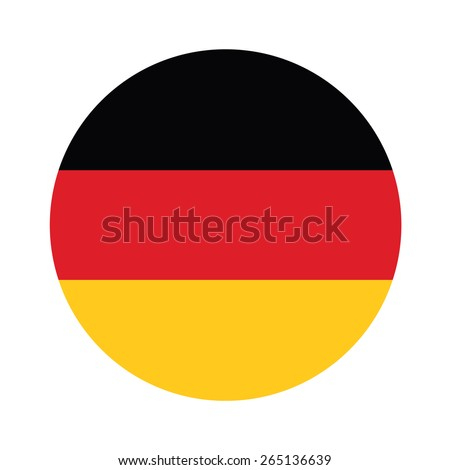 Round german flag vector icon isolated, german flag button - stock vector