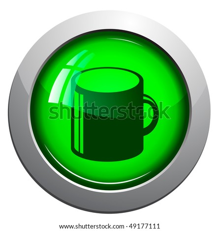 round glossy web office icon