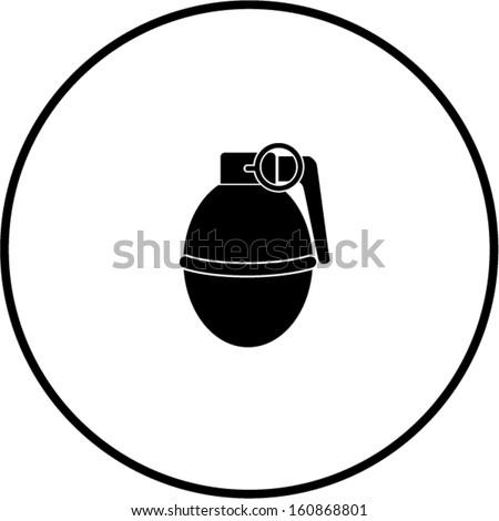 round hand grenade explosive symbol - stock vectorExplosive Symbol Vector