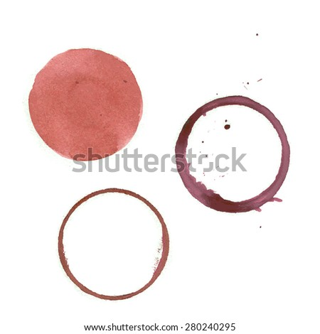 Round imprint glass on a white background. Vector Image. - stock vector