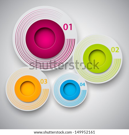Round infographic design template.  - stock vector