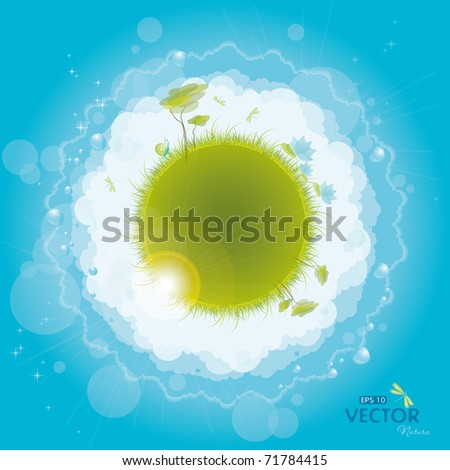 Round nature design, eps-10 - stock vector