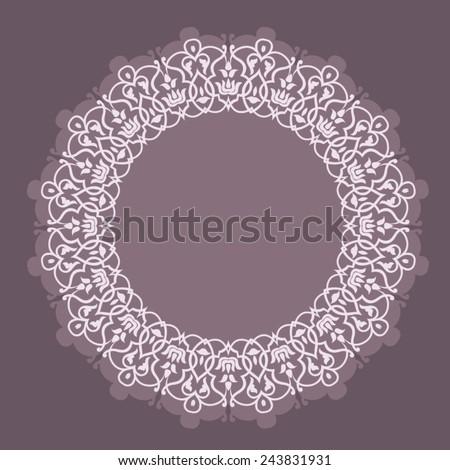 Round Ornament Pattern. Vintage decorative elements arabesque design element - stock vector