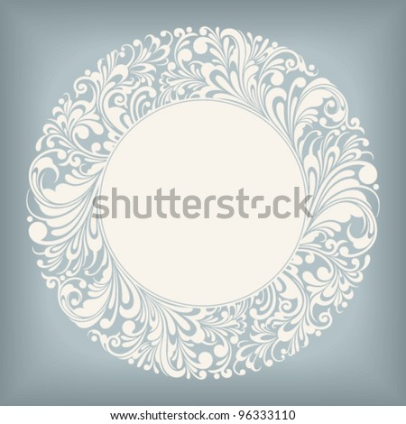 round ornamental frame, vector illustration - stock vector