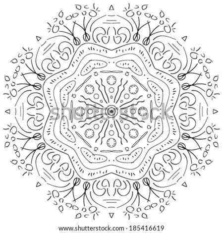 round ornamental geometric - stock vector