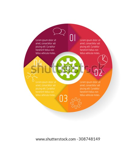 Round paper progress steps for tutorial. 4 options circular infographic banner. Number banners template for diagram, presentation or chart. Business concept sequence banner. EPS10 workflow layout. - stock vector