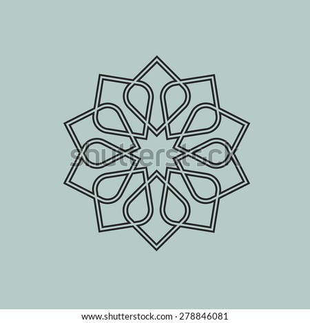 Round pattern in Arabic style. Vector EPS10 - stock vector