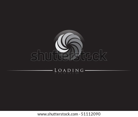 Round progress loading indicator. Vector illustration. - stock vector