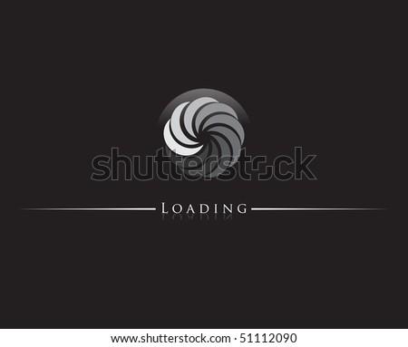 Round progress loading indicator. Vector illustration. - stock vector