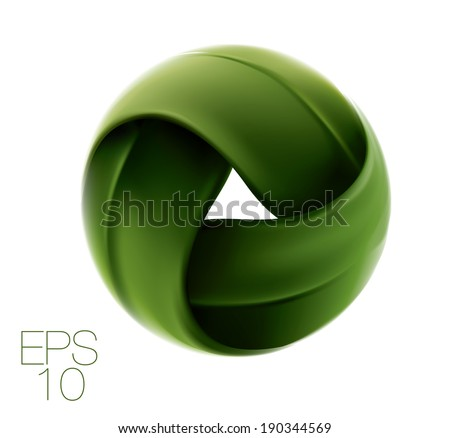 Round seamless leaf. Ecology concept. Vector  - stock vector
