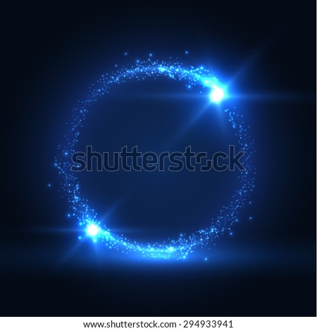 Round shiny frame background. Technology background. Vector eps10. - stock vector