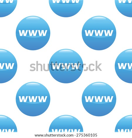 Round sign with text WWW repeated on white background - stock vector