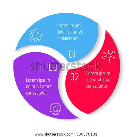 Vector Round Infographic Diagram Circular Connected Stock Vector ...