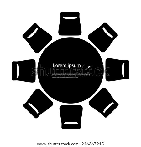 round table - stock vector