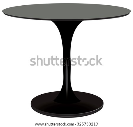 Round table black, creative designer. Vector illustration.