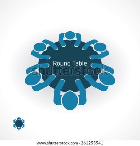 round table business - stock vector
