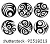 round tattoos - stock vector
