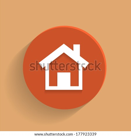 Round Vector Home icon  - stock vector