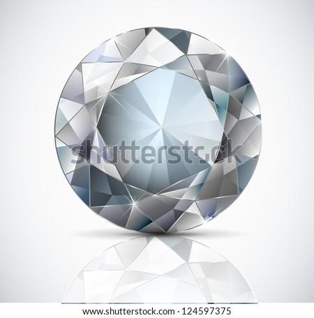 round white diamond on a light background. Vector. - stock vector