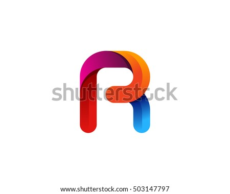Rounded contour r letter 3d colorful stock vector 503147797 rounded contour r letter 3d colorful logo design template thecheapjerseys Images