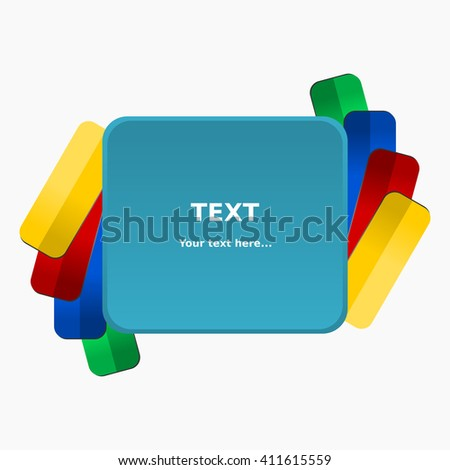 Rounded Rectangle Banner - stock vector