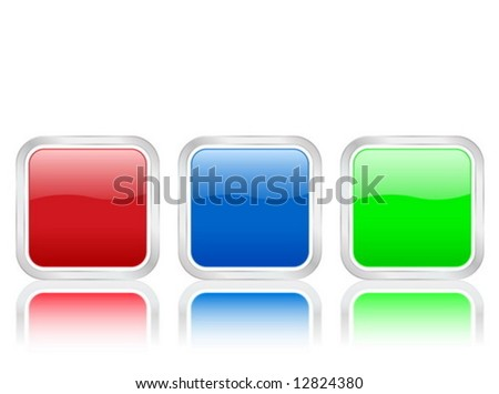 Rounded squares icons isolated on white background. Vector illustration