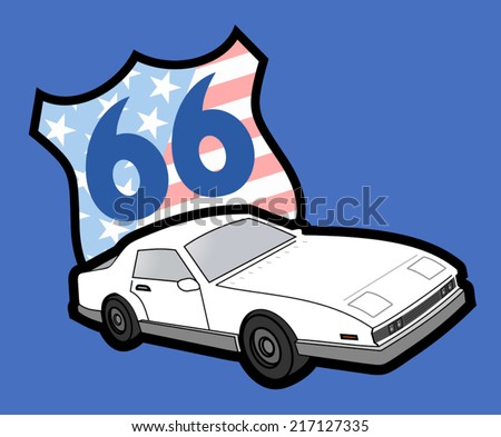 Route 66 - stock vector