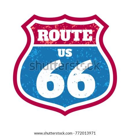 Route 66 Landmark Print shirt Black background ibvQs