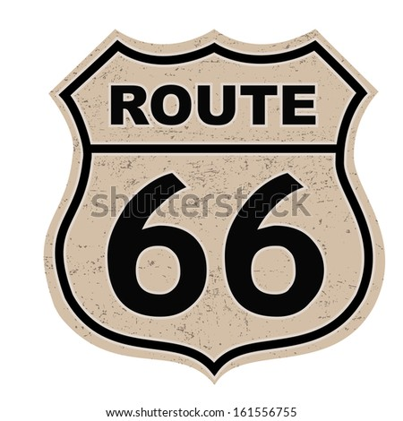 Route 66 sign - stock vector