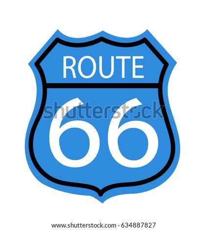 Route 66 Sign Stock Vector 2018 634887827 Shutterstock
