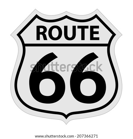 Route 66 sign vector illustration - stock vector
