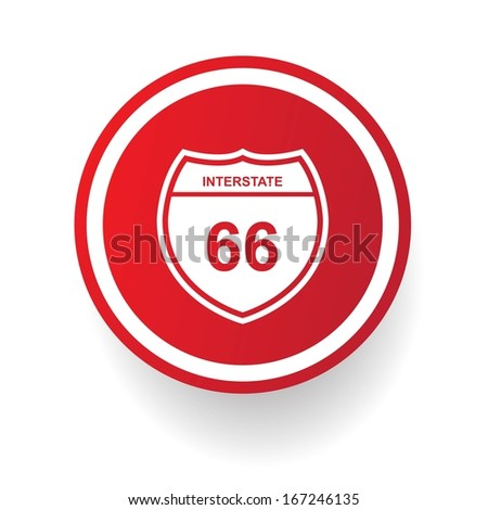 Route 66  symbol,vector - stock vector