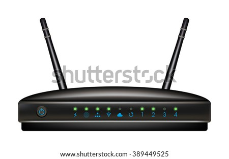 Router - stock vector