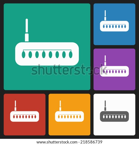 router Icon - stock vector